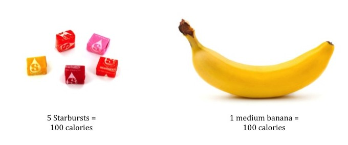 What We Eat: Starbursts v Banana